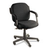Global Commerce Series Low-Back Swivel/Tilt Chair, Asphalt Black Fabric