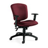 Global Supra X Series Medium-Back Tilter Chair, Rhapsody Fabric