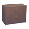Genoa Series Two-Drawer Lateral File, 36w x 20d x 29h, Mahogany
