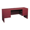 Genoa Series Kneespace Credenza, 66w x 20d x 29h, Mahogany