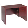 Genoa Series Single Right Pedestal Desk, 45w x 24d x 29h, Mahogany