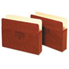 Three Inch Expansion Accordion Pocket, Straight, Manila/Redrope, Letter, Brown