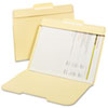 Secure File Folders, Top Tab, Letter, Manila, 50/Box