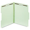 Folders, One Inch Expansion, Two Fasteners, 1/3 Cut, Letter, Green, 25/Box