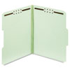Folders, Two Inch Expansion, Two Fasteners, 1/3 Cut, Letter, Green, 25/Box