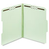 Folders, Three Inch Expansion, Two Fasteners, 1/3 Cut, Letter, Green, 25/Box