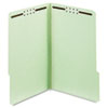 Folders, Three Inch Expansion, Two Fasteners, 1/3 Cut Tab, Legal, Green, 25/Box