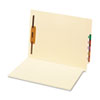 Manila End Tab Folder, One Fastener, Straight Tab, Letter, 50/Box
