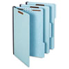 Folders, Two Inch Expansion, Two Fasteners, 1/3 Cut, Legal, Light Blue, 25/Box