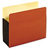 Drop Front Expanding File Pocket, Top Tab, 5 1/4 Inch, Letter, Brown, 10/Box