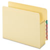 "Standard File Pocket, End Tab, Manila, 3 1/2"" Exp., Letter"