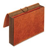 3 1/2 Inch Expansion Accordion Wallet, Straight, Redrope, Legal, Brown