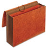 5 1/4 Inch Expansion Accordion Wallets, Straight, Redrope, Legal, Red
