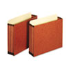 3 1/2 Inch Expansion File Pockets, Straight, Letter, Redrope, 10/Box