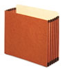 5 1/4 Inch Expansion File Pocket, Straight, Letter, Redrope, 10/Box