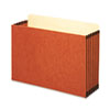 5 1/4 Inch Expansion File Pocket, Straight, Legal, Redrope, 10/Box