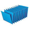Hanging Accordion Folders, Letter Size, Blue, Two Sets/Box