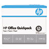 HP Office Paper, 92 Brightness, 20lb, 8-1/2 x 11, White, 2500 Sheets/Carton