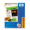 HP All-In-One Printing Paper, 96 Bright, 22lb, Letter, White, 500 Sheets/Ream