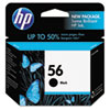 C6656AN (HP 56) Ink Cartridge, 520 Page-Yield, Black