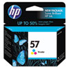 C6657AN (HP 57) Ink Cartridge, 500 Page-Yield, Tri-Color
