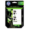 C9319FN (HP 56) Ink Cartridge, 520 Page-Yield, 2/Pack, Black