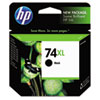 CB336WN (HP 74XL) Ink Cartridge, 750 Page-Yield, Black