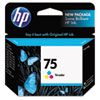CB337WN (HP 75) Ink Cartridge, 170 Page-Yield, Tri-Color