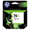 CB338WN (HP 75XL) Ink Cartridge, 520 Page-Yield, Tri-Color