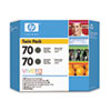 CB339A (HP 70) Ink Cartridge, 2/Pack, Matte Black