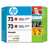 CD952A (HP 73) Ink Cartridge, 2/Pack, Chromatic Red