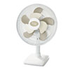 "2Cool 12"" Three Speed Personal Table Fan, Metal, White"