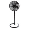 16&quot; Three-Speed Adjustable Oscillating Floor Fan, Metal and Plastic, Black