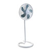 "16"" Three-Speed Adjustable Oscillating Floor Fan, Metal and Plastic, White"