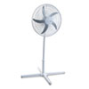 "20"" Three-Speed Adjustable Oscillating Power Stand Fan, Metal/Plastic, White"