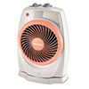 ViziHeat 1500W Power Heater &amp; Fan, Plastic Case, 9-1/4 x 6-3/8 x 13-3/4, White