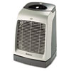 One-Touch Oscillating Heater/Fan, 9 1/8w x 9 5/8d x 13 1/2h, Gray