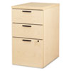 10500 Series Box/Box/File Mobile Pedestal, 15-3/4w x 22-3/4d x 28h, Maple