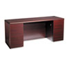 10700 Kneespace Credenza, Full-Height Pedestals, 72w x 24d x 29-1/2h, Mahogany