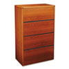 10700 Series Four-Drawer Lateral File, 36w x 20d x 59-1/8h, Henna Cherry