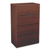 10700 Series Four-Drawer Lateral File, 36w x 20d x 59-1/8h, Mahogany