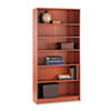 1890 Series Bookcase, 6 Shelves, 36w x 11-1/2d x 72-5/8h, Henna Cherry