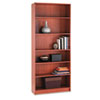1890 Series Bookcase, 6 Shelves, 36w x 11-1/2d x 84h, Henna Cherry