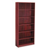 1890 Series Bookcase, 6 Shelves, 36w x 11-1/2d x 84h, Mahogany