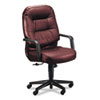 Leather 2090 Pillow-Soft Series Executive High-Back Swivel/Tilt Chair, Burgundy