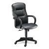 Allure Executive High-Back Swivel/Tilt Chair, Black Leather