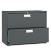 600 Series Two-Drawer Lateral File, 36w x19-1/4d, Charcoal
