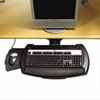 Articulating Keyboard Platform with Mouse Tray, 21 x 10-1/2, Black
