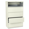 800 Series Five-Drawer Lateral File, Roll-Out/Posting Shelves, 42w x 67h, Putty
