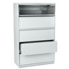 801 Series Five-Drawer Lateral File, Roll-Out/Posting Shelves, 42w x 67h, Lt Gra